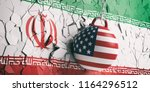 us of america and iran... | Shutterstock . vector #1164296512