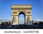 view of famous arc de triomphe  ... | Shutterstock . vector #116430748