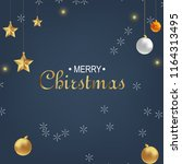 christmas greeting card with... | Shutterstock .eps vector #1164313495