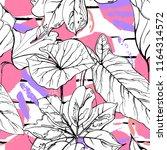 tropical  modern stripes motif. ... | Shutterstock .eps vector #1164314572