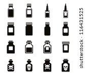 Medical Bottles Icon Set ...