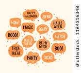 halloween speech bubbles set... | Shutterstock .eps vector #1164316348