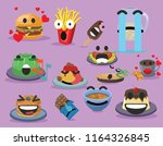 funny food emojis food   drink...   Shutterstock .eps vector #1164326845