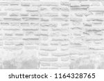 white brick wall for background ...   Shutterstock . vector #1164328765