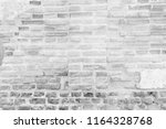 white brick wall for background ...   Shutterstock . vector #1164328768