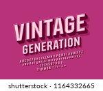 vector pink vintage generation... | Shutterstock .eps vector #1164332665