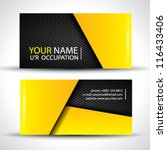 Modern business card - yellow and black colors | Shutterstock vector #116433406