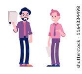 arguing businessmen vector... | Shutterstock .eps vector #1164334498