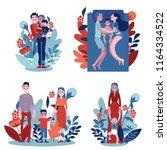 vector family hugging set....   Shutterstock .eps vector #1164334522