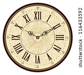 Vector Old Vintage Clock Face
