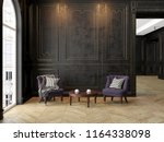 armchairs and coffee table in... | Shutterstock . vector #1164338098
