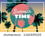 summer time at seashore  sea...   Shutterstock .eps vector #1164339235