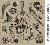 hand drawn tattoo element   Shutterstock .eps vector #1164358648