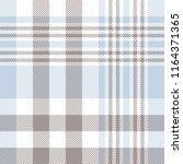 Plaid pattern in pale blue, taupe brown and white - stock vector
