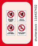signal prohibition  no access... | Shutterstock .eps vector #116437432