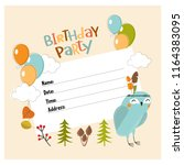 vector invitation for a party.... | Shutterstock .eps vector #1164383095