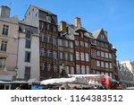 rennes  france   june 27  2018  ... | Shutterstock . vector #1164383512