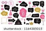 photo booth props set for 30th... | Shutterstock . vector #1164385015