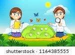 environmental and biology... | Shutterstock .eps vector #1164385555