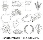 13 line art black and white...   Shutterstock .eps vector #1164389842