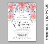 red poppy christmas party...   Shutterstock .eps vector #1164397435