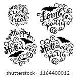 set of handlettering phrases... | Shutterstock .eps vector #1164400012