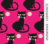 halloween seamless pattern with ...   Shutterstock .eps vector #1164415672
