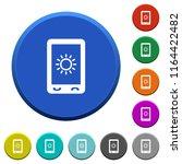 mobile display brightness round ... | Shutterstock .eps vector #1164422482