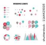 business data visualisation... | Shutterstock .eps vector #1164425035