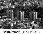 socialistic buildings in... | Shutterstock . vector #1164440518