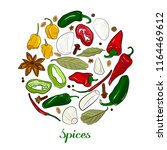 spices in the form of a circle. ...   Shutterstock .eps vector #1164469612