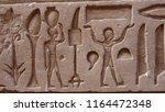ancient hieroglyphs in egypt | Shutterstock . vector #1164472348