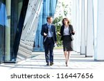 business people walking and... | Shutterstock . vector #116447656