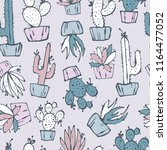 cartoon seamless pattern with... | Shutterstock .eps vector #1164477052