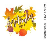 hand sketched september text.... | Shutterstock .eps vector #1164479395