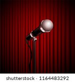 stage curtains with shining... | Shutterstock .eps vector #1164483292