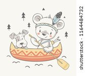vector illustration of a cute...   Shutterstock .eps vector #1164484732