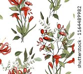 trendy floral pattern. isolated ... | Shutterstock .eps vector #1164489982