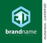 eu initial letter hexagonal... | Shutterstock .eps vector #1164509185