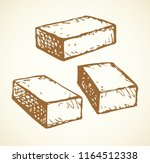 new cute single house airbrick... | Shutterstock .eps vector #1164512338