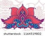 stylized lotus flower in indian ... | Shutterstock .eps vector #1164519802