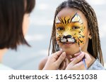 cute little tiger. african... | Shutterstock . vector #1164521038