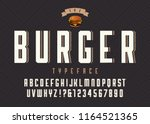 burger vector retro regular... | Shutterstock .eps vector #1164521365
