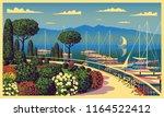 mediterranean romantic... | Shutterstock .eps vector #1164522412