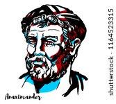 anaximander engraved vector...   Shutterstock .eps vector #1164523315