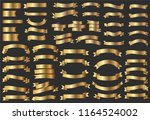 ribbon banner set.golden... | Shutterstock .eps vector #1164524002
