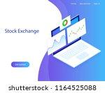 concept website. stock exchange ...   Shutterstock .eps vector #1164525088