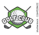 golf logo  emblems and insignia ... | Shutterstock .eps vector #1164528622