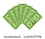 money banknotes fan. pile of... | Shutterstock .eps vector #1164529798