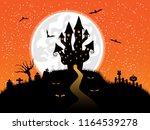 halloween background with... | Shutterstock . vector #1164539278